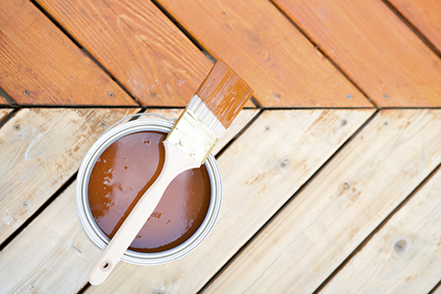 Tips on painting or staining your deck
