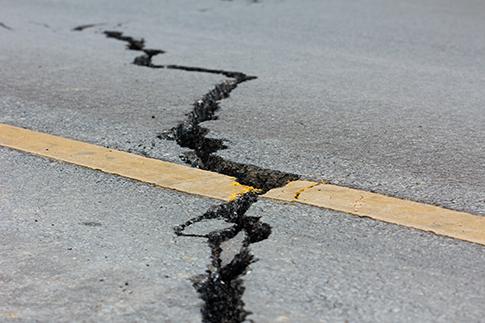 Dégâts causés par un tremblement de terre